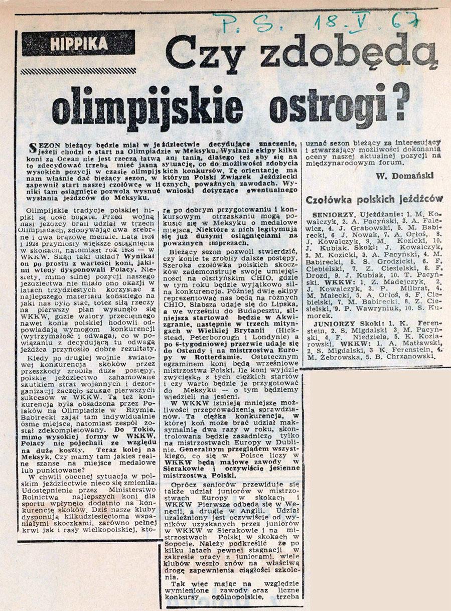 1967.05.18 - PRZEGLĄD SPORTOWY